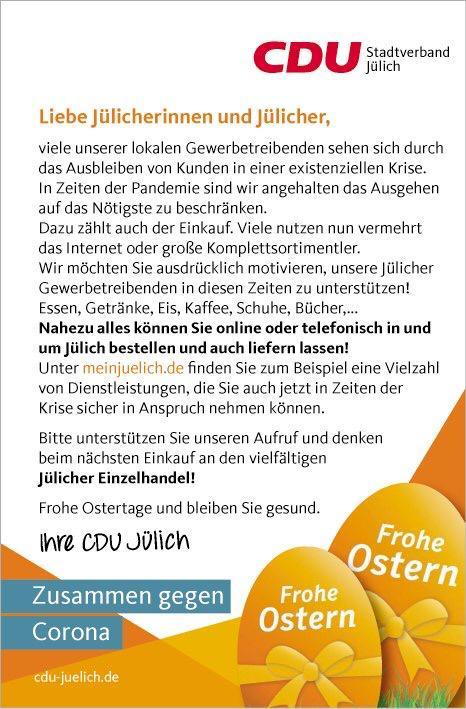 In Jülich einkaufen - auch per Lieferdienst!